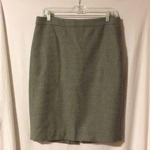 J.Crew - No. 2 Pencil Skirt - light grey wool